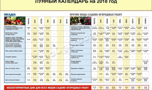 Лунный календарь 2018 года